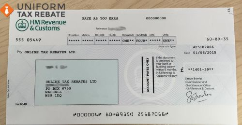 Uniform Tax Rebate Cheque